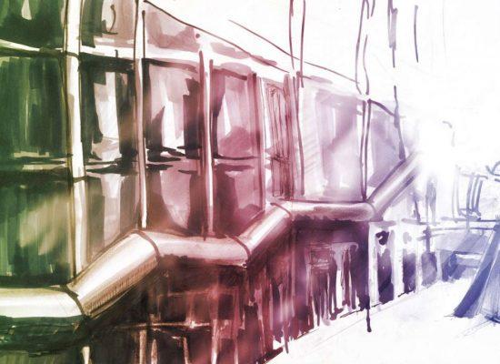 centre pompidou skizze
