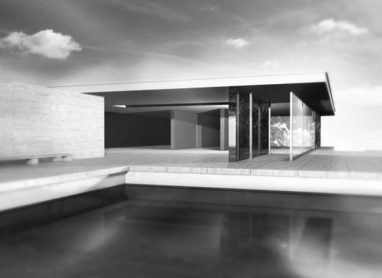 Haus visualisierung mit pool