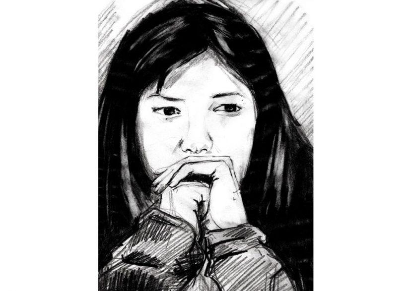 Bleistift Gesicht Asian
